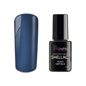 Ráj nehtů UV gel lak Shellac Me 12ml - Pearly Deep Blue
