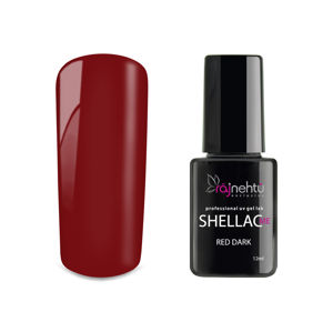 Ráj nehtů UV gel lak Shellac Me 12ml - Red Dark