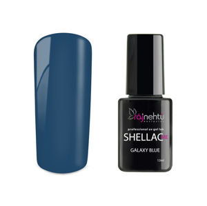 Ráj nehtů UV gel lak Shellac Me 12ml - Galaxy Blue