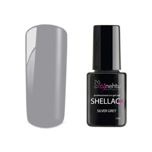 Ráj nehtů UV gel lak Shellac Me 12ml - Silver Grey
