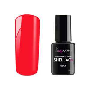 Ráj nehtů UV gel lak Shellac Me 12ml - Red 06