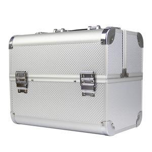 Ráj nehtů Kosmetický kufřík SCALE stříbrný