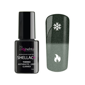 Ráj nehtů UV gel lak Shellac Me Thermo 12ml - Anthracite-Grey Glimmer
