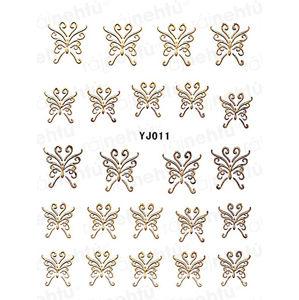 Samolepky na nehty - zlaté 011