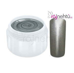 Ráj nehtů Barevný UV gel METALLIC - Grey 5ml