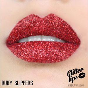 Beauty Boulevard Glitter Lips, voděodolné třpytky na rty - Ruby Slippers 3,5ml